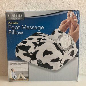 Homedics Portable Foot Massage Pillow Cow Print